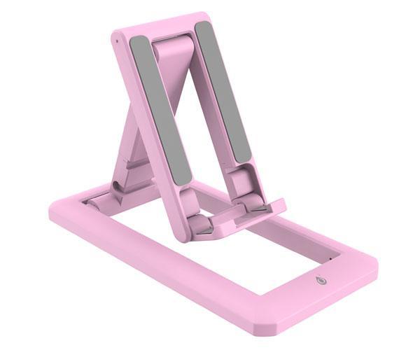 Soporte Universal Smartphones - Tablets Rosa - Ne5140 - Hasta 11 Pulgadas - 90º Ajustable - Plegable y extensible