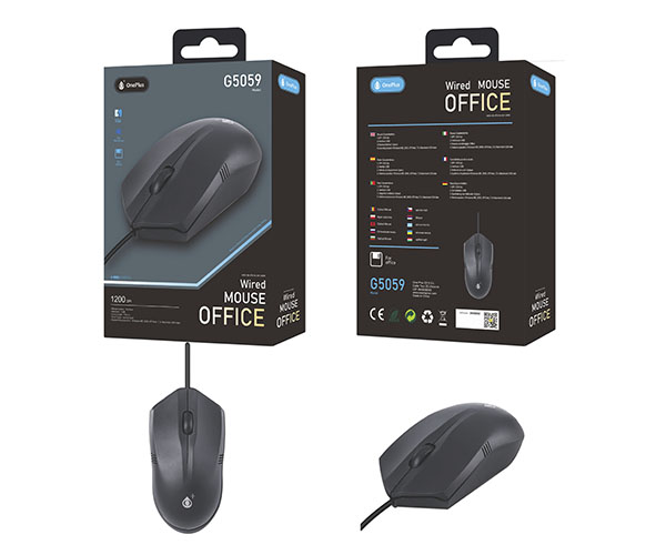 Ratón USB G5059 Office 1200 DPI negro