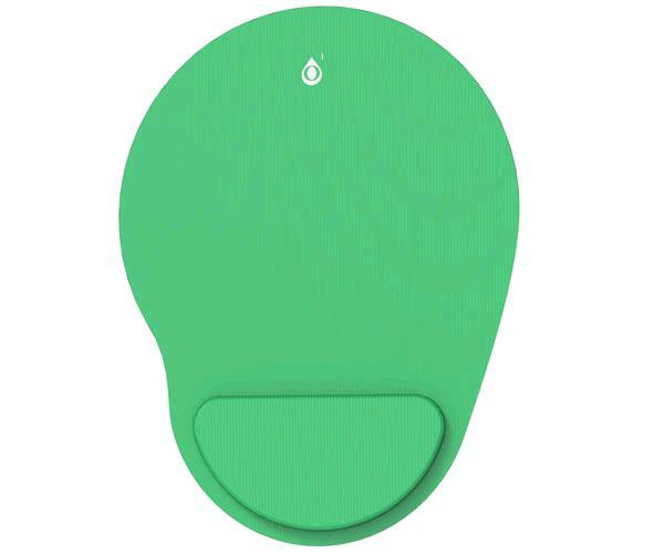 Alfombrilla con reposa muñecas gel Ng6035 - Verde - One+
