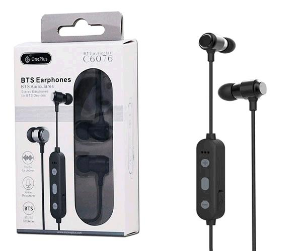 Auriculares Metal Muk C6076 - Bluetooth 5.0 - Rellamada - Negro - One+