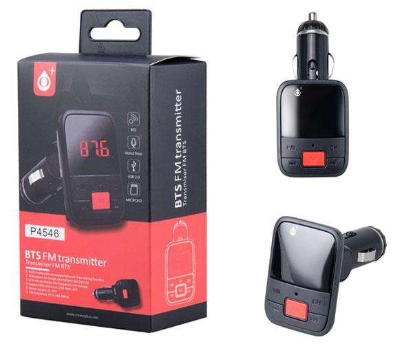 TRANSMISOR FM BLUETOOTH P4546- USB - MICROSD- JACK