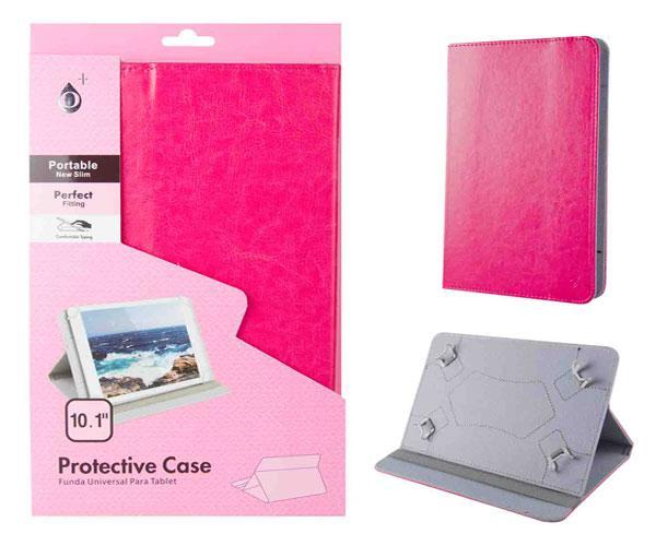 Funda tablet universal 10.1 pulgadas marg ONE+ rosa
