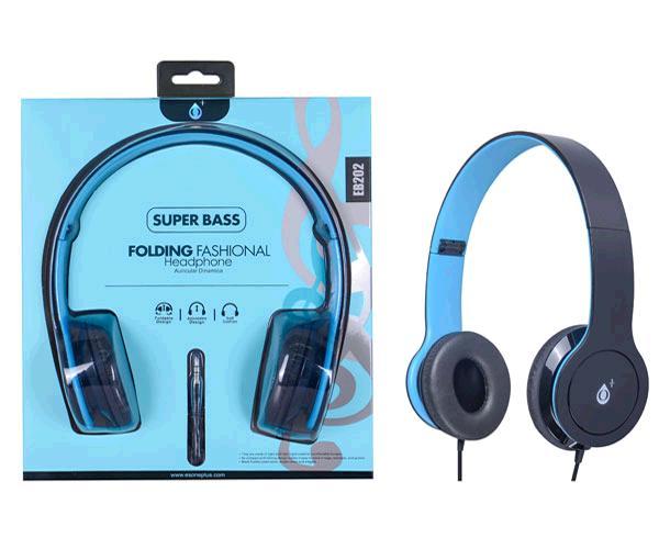 Auriculares plegables eb202 azul m3 ONE+