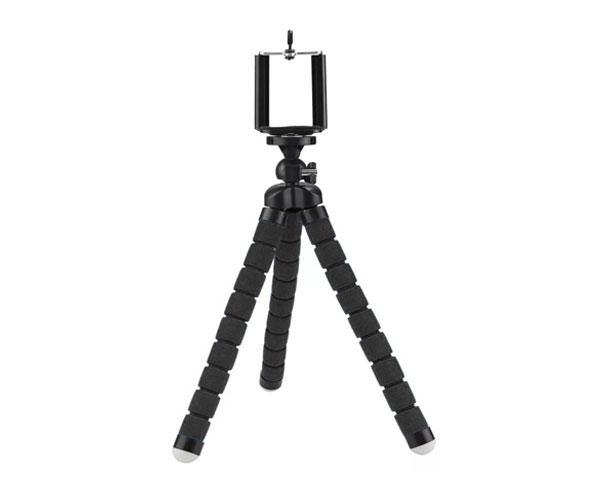 Mini Tripode - Baston Selfie universal Smartphones R5439  Negro - 13cm altura - Flexible - 360º - ONE+