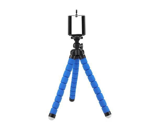Mini Tripode - Baston Selfie universal Smartphones R5439  Azul - 13cm altura - Flexible - 360º - ONE+