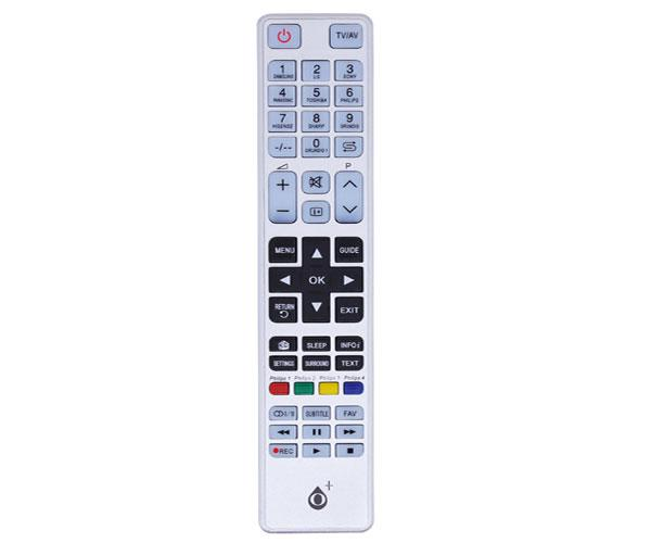 Mando a distancia TV Universal 9 en 1 - R6653 - Blanco - One+