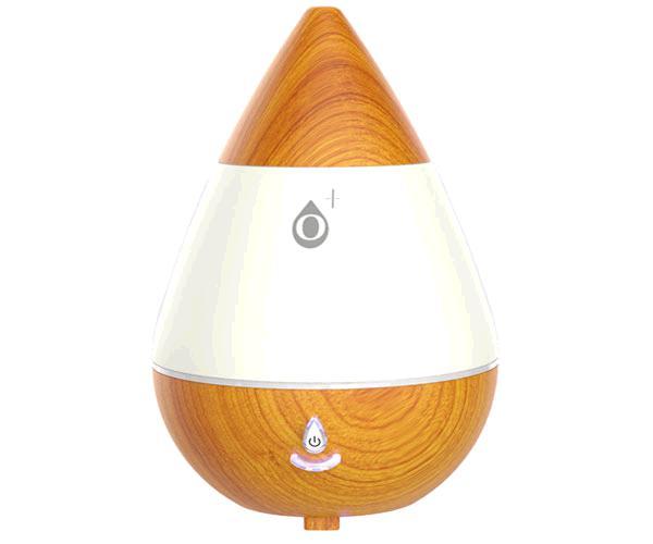 Difusor de aroma Wooden Nr9095 - 235ml - 2.5w - Luz led Rgb ambiente - Madera claro - One+