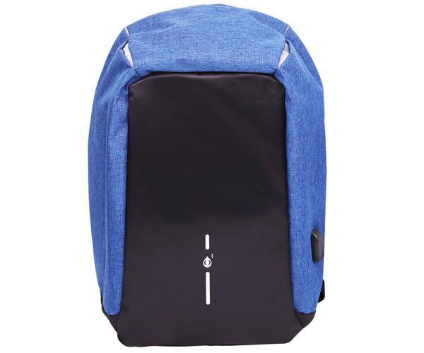 Mochila Anti-Robo con puerto Usb Nr9117 - portatiles hasta 15.6 - Azul - One+