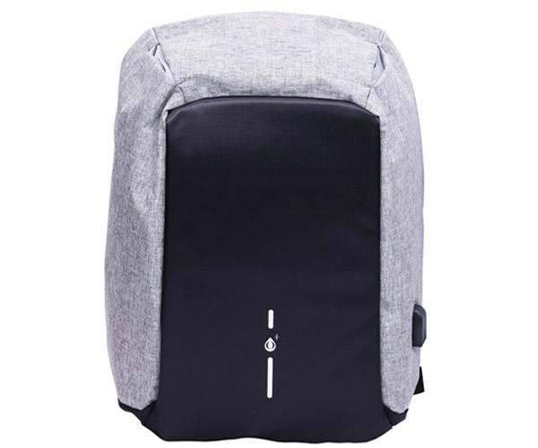 Mochila Anti-Robo con puerto Usb Nr9117 - portatiles hasta 15.6 - Gris - One+