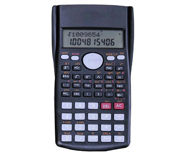 Calculadora Cientifica Nr9132 - 11 Digitos -  Pantalla Lcd - Negra - One+