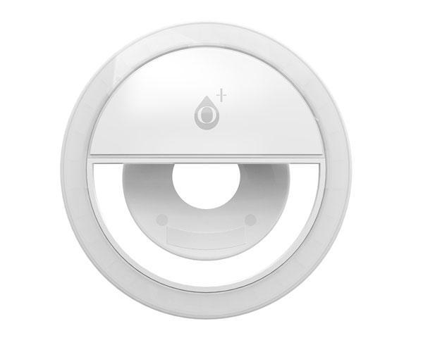 Mini anillo Luz led con clip universal Smartphones Nr9142 Blanco - 3 Niveles de potencia - One+