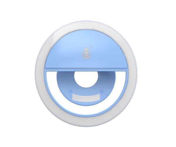 Mini anillo Luz led con clip universal Smartphones Nr9142 Azul - 3 Niveles de potencia - One+