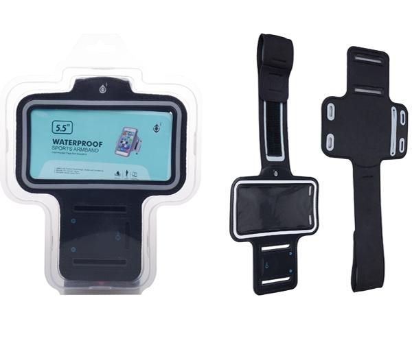 Funda brazalete smartphone 5.0 - 5.7 pulgadas negro ONE+