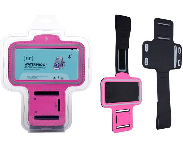 Funda brazalete smartphone 5.0 - 5.7 pulgadas rosa ONE+