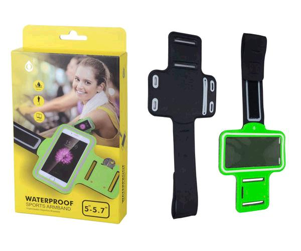 Funda brazalete smartphone 5.0 - 5.7 pulgadas verde ONE+