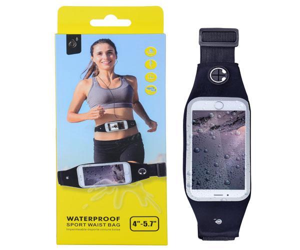 Cinturon smartphone impermeable running negra - J7043