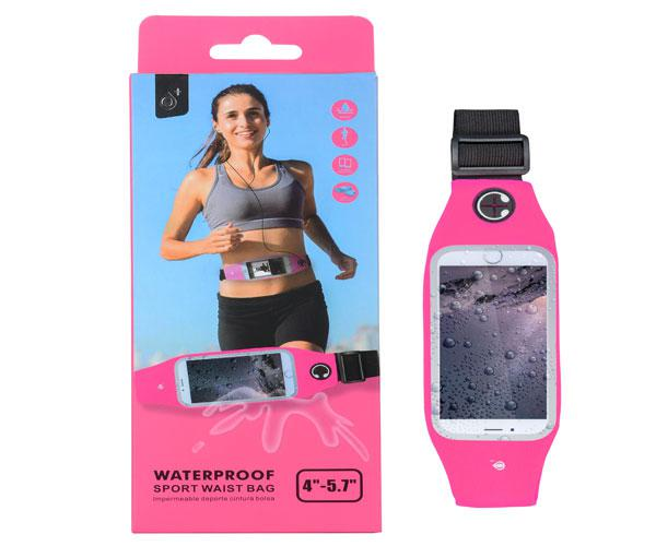 CINTURON SMARTPHONE IMPERMEABLE RUNNING ROSA - BB104