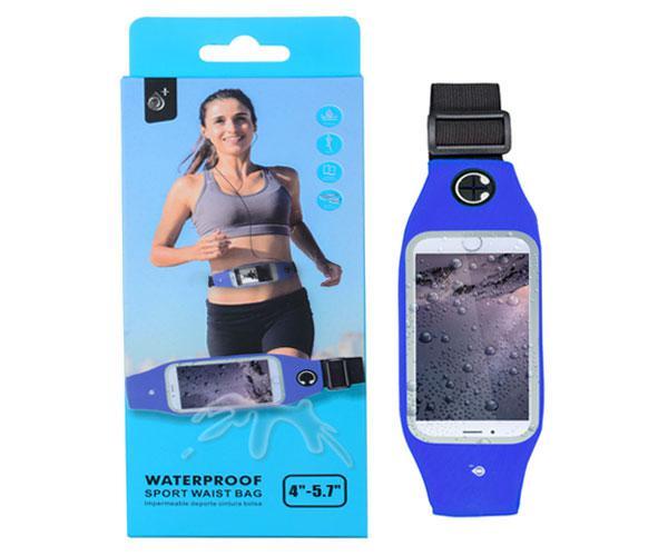 Cinturon smartphone impermeable running azul - bb104