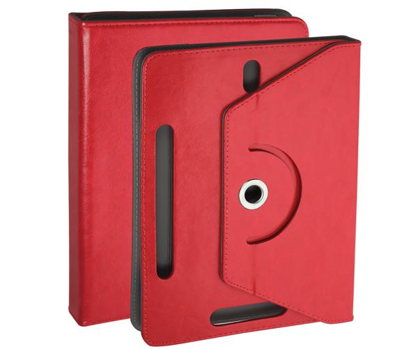 Funda tablet ajustable giratoria ONE+ 7 pulgadas roja