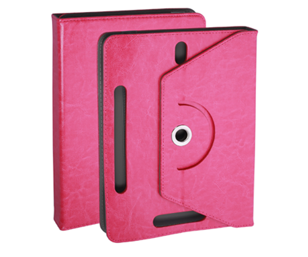 Funda tablet ajustable giratoria ONE+ 7 pulgadas rosa
