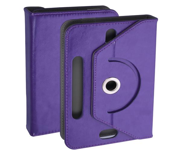 Funda tablet ajustable giratoria ONE+ 7 pulgadas morada
