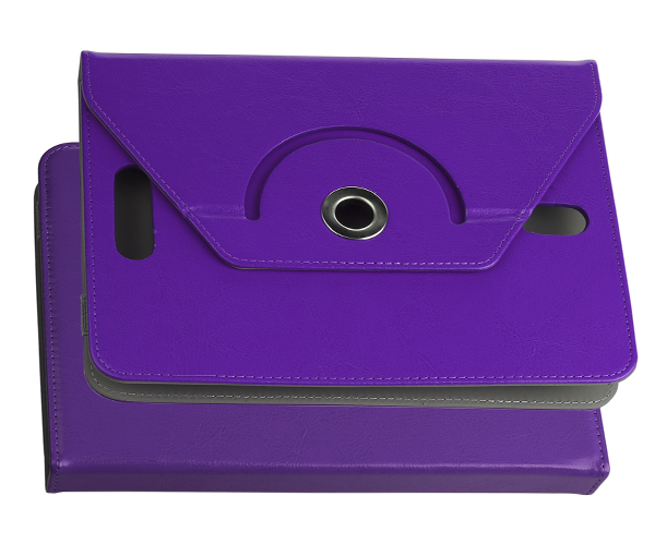 FUNDA TABLET AJUSTABLE GIRATORIA 9 PULGADAS ONE+ MORADA