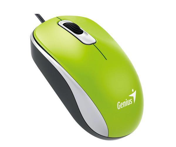 Raton genius dx-110 óptico USB verde ambidiestro