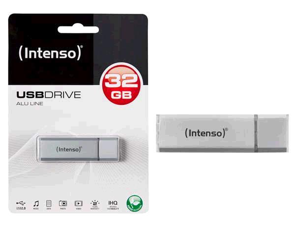 Pendrive Intenso alu line 32Gb USB 2.0 Antracita aluminio