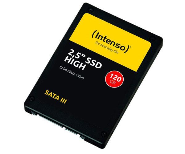 Disco duro 2.5 SSD Intenso 120Gb High Performance - 3d Nand - Sata 3 - 520mb-s
