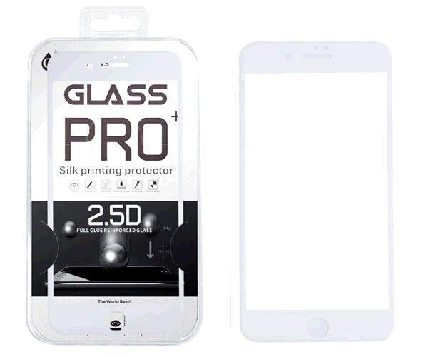 Cristal templado iPhone 7-8  6D blanco