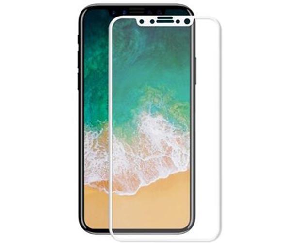 Cristal templado iPhone X  blanco - 5D