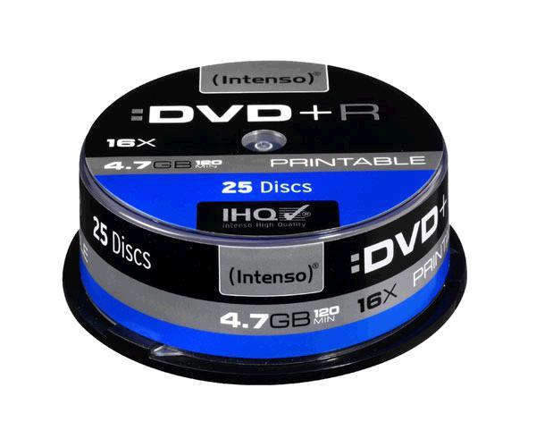 DVD+R INTENSO TARRINA 25 UNIDADES PRINTABLES