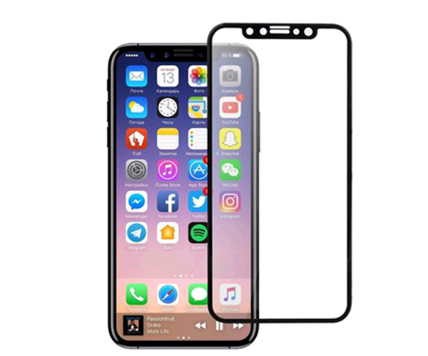 CRISTAL TEMPLADO IPHONE X - XS - 2.5D FULL GLUE  NEGRO