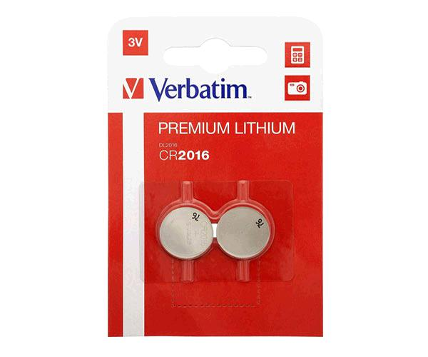 Pila boton Litio Verbatim Cr2016 3V (2 uds)