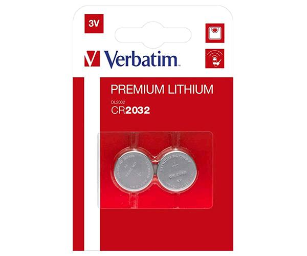 Pila boton Verbatim para placa base Cr2032   pack 2 unid.