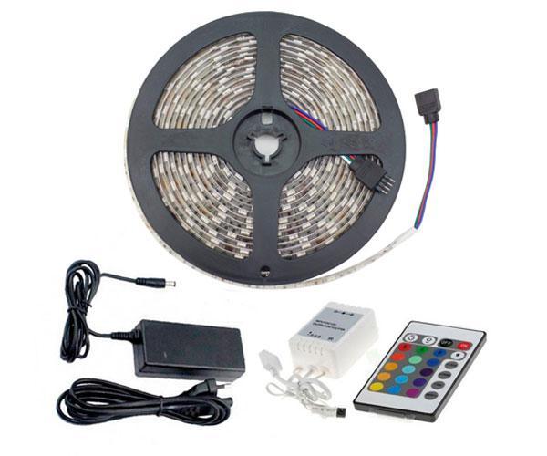 Tira LED Rgb 5 metros + mando a distancia