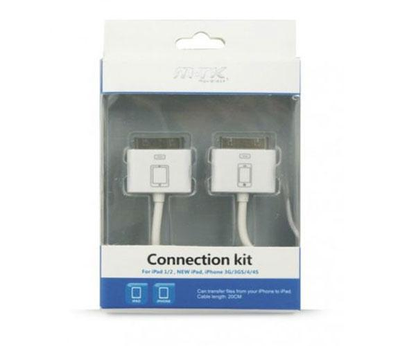 Cable iPhone4-4s conexion con iPad (kit transfer)