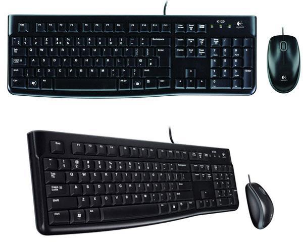 Combo teclado + raton USB Logitech mk120 negro