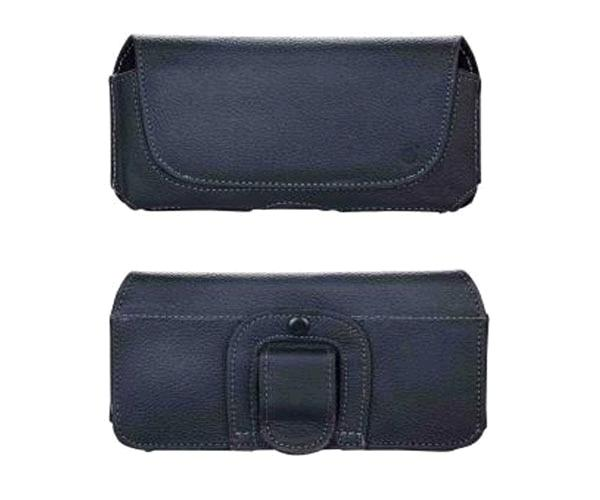 Funda Cinturon Piel universal Smartphones 6 pulgadas negra