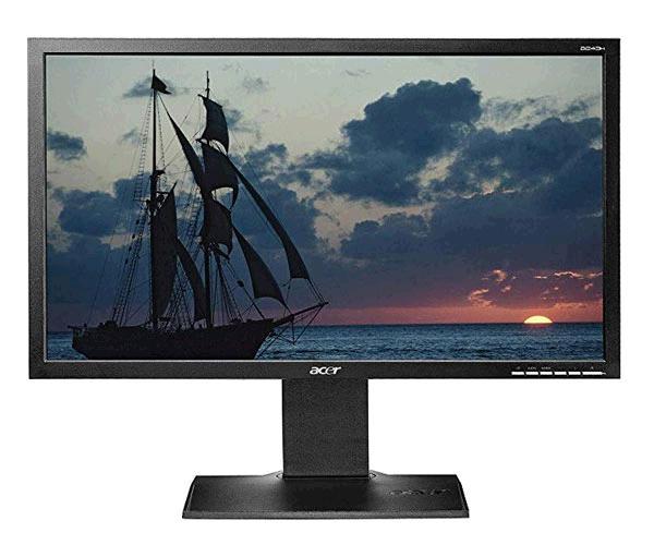 Monitor Ocasión Acer B243hl 24 pulg. fullhd - DVI - VGA - Negro - Grado B