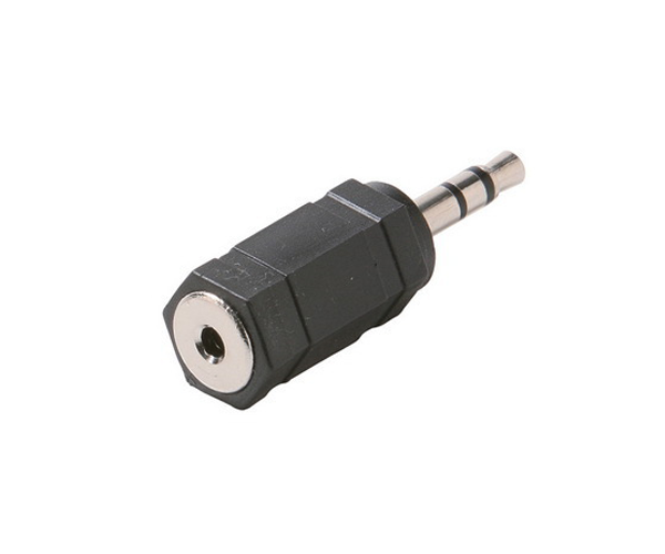 ADAPTADOR AUDIO JACK 2.5 H - JACK 3.5 M