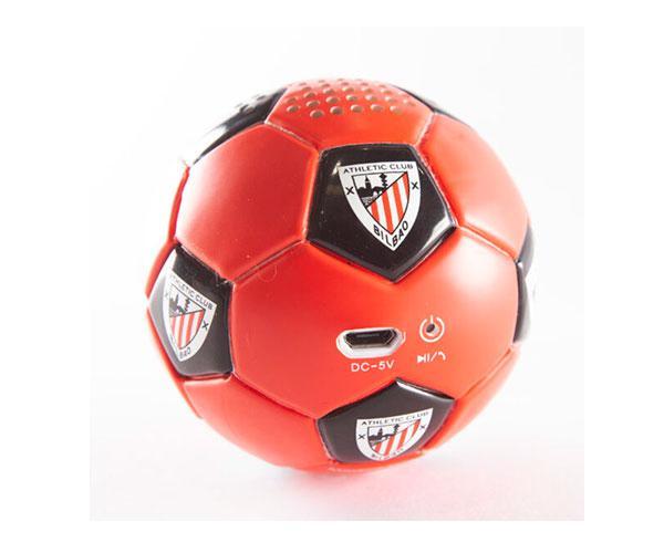 Altavoz Bluetooth Balón Athletic Club de Bilbao Rojo Negro con licencia