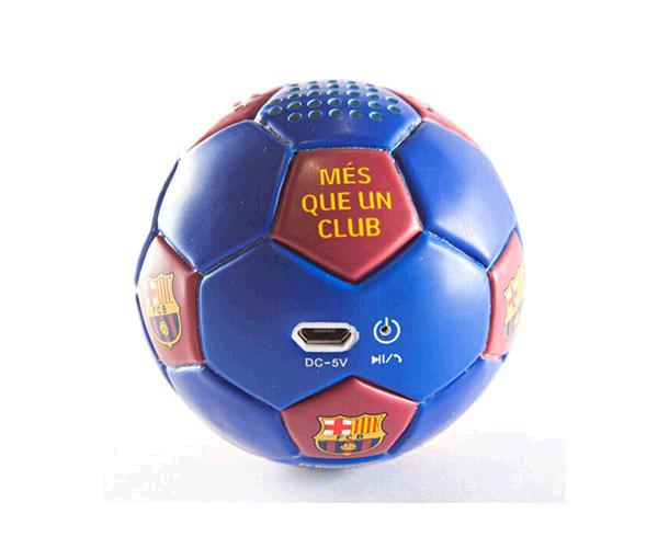 Altavoz Bluetooth Balón FC Barcelona azulgrana con licencia