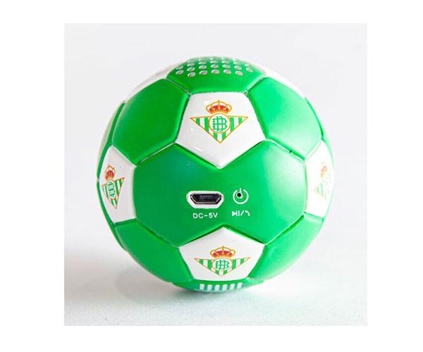 Altavoz Bluetooth Balón Real Betis verdiblanco con licencia