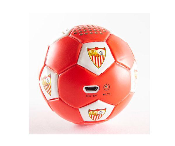 Altavoz Bluetooth Balón Sevilla FC rojiblanco con licencia