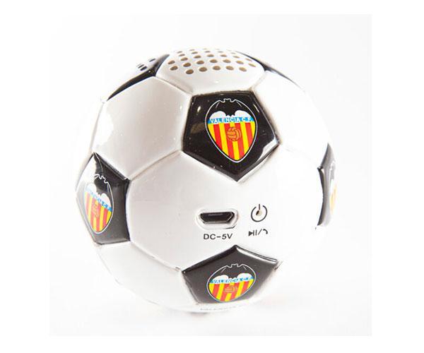 Altavoz Bluetooth Balón Valencia CF  blanco y negro con licencia