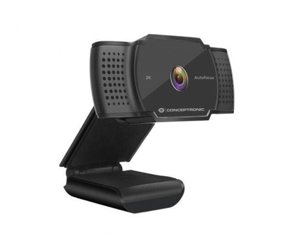 Webcam con Microfono Conceptronic Amdis02b - 2K Super HD - 5mpx - Usb - 2.7mm - Angulo vision 72º -