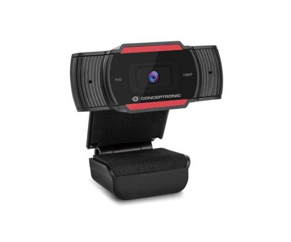 Webcam con Microfono Conceptronic Amdis04r - Full HD 1080p - Usb - Foco fijo - 3.6mm - Angulo vision 65º