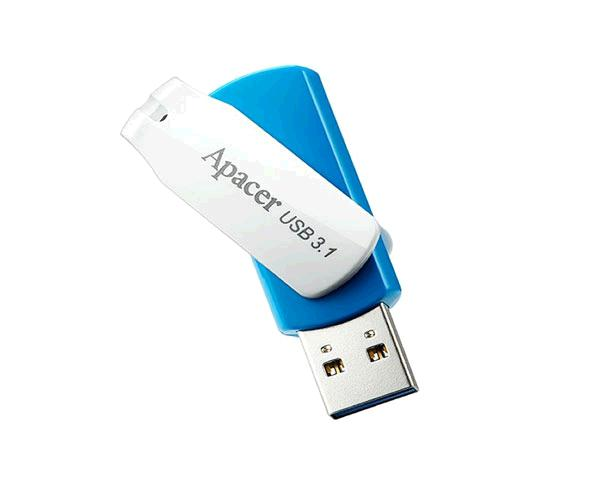 PENDRIVE APACER AH357 OCEAN BLUE 64GB USB 3.0 - 3.1 GEN 1 - BLANCO - AZUL