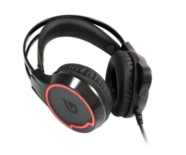 Auriculares con microfono Gaming 7.1 Conceptronic Athan01b - Compatible Pc-Ps3-Ps4 - Luces Led